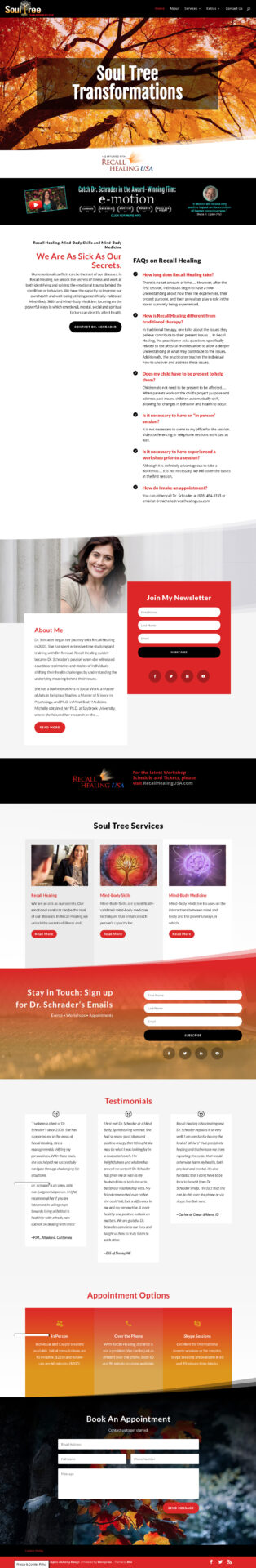 SoulTree Transformations website by GraphicAlchemyOnline.com