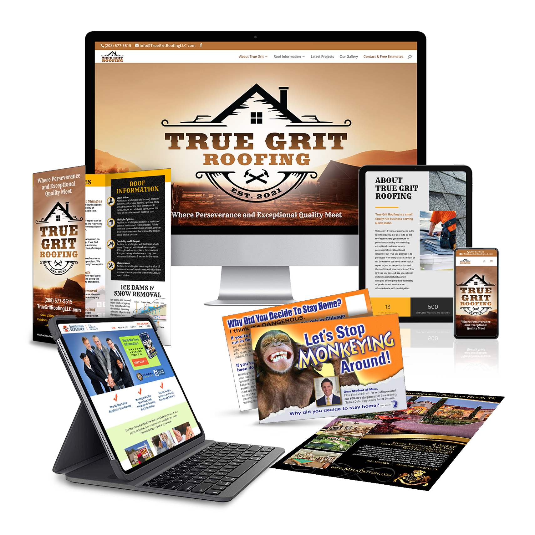 promote your business marketing package website brochure postcard flyer graphic alchemy