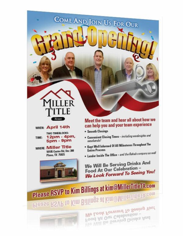 title company flyer design custom