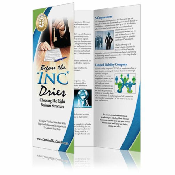 custom brochure design certified tax coach