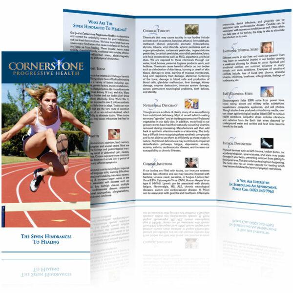 custom brochure design cornerstone progressive health