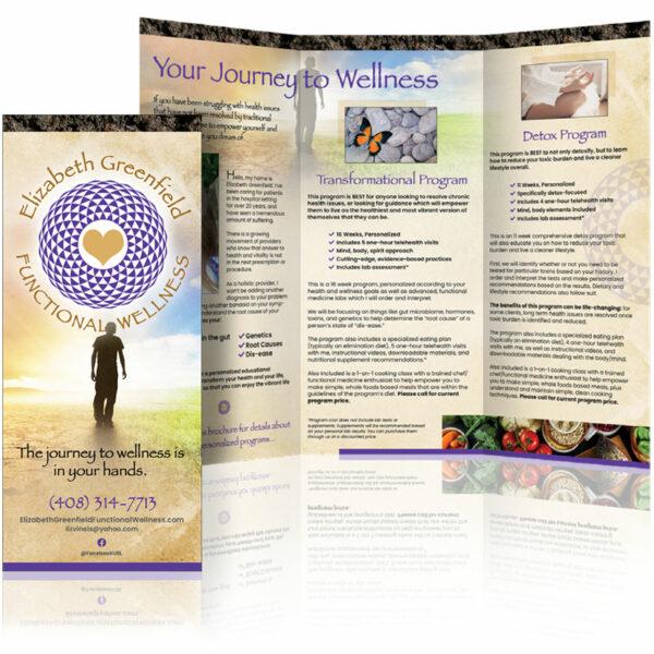custom brochure design elizabeth greenfield