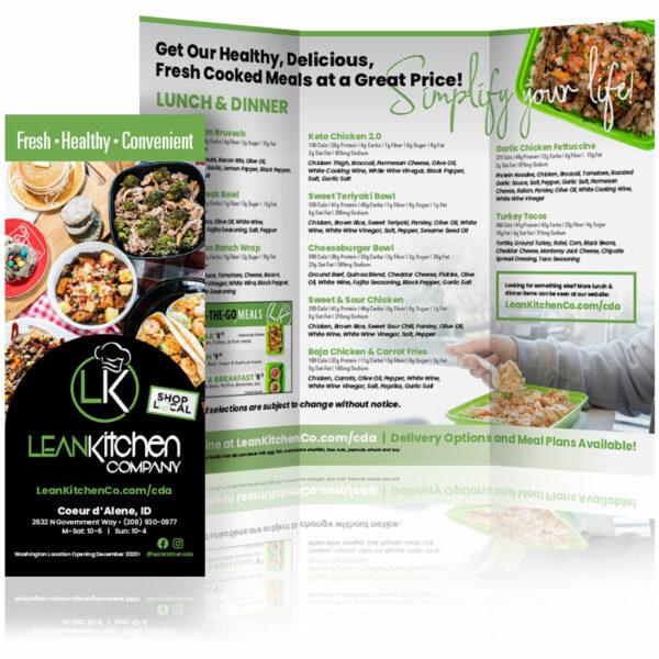 custom brochure design lean kitchen