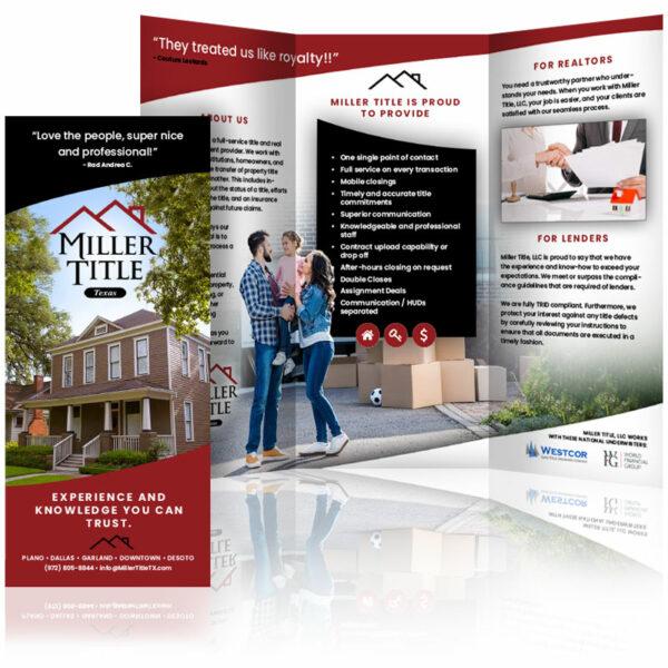 custom brochure design miller title