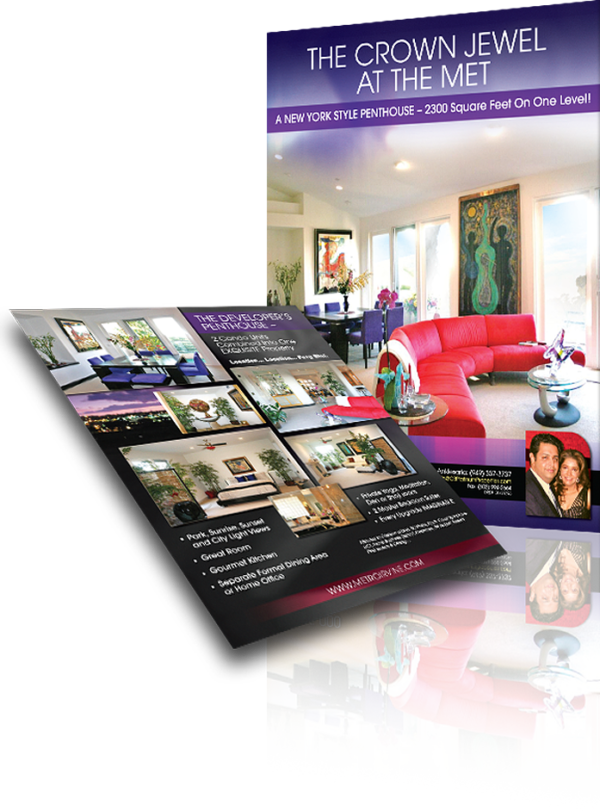 flyer design magazine ad luxury home