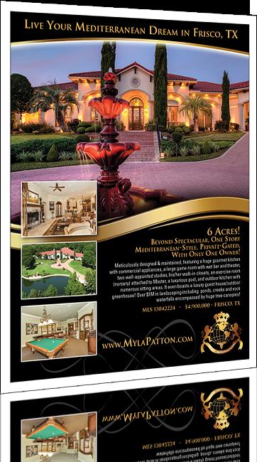 real estate flyer design north idaho