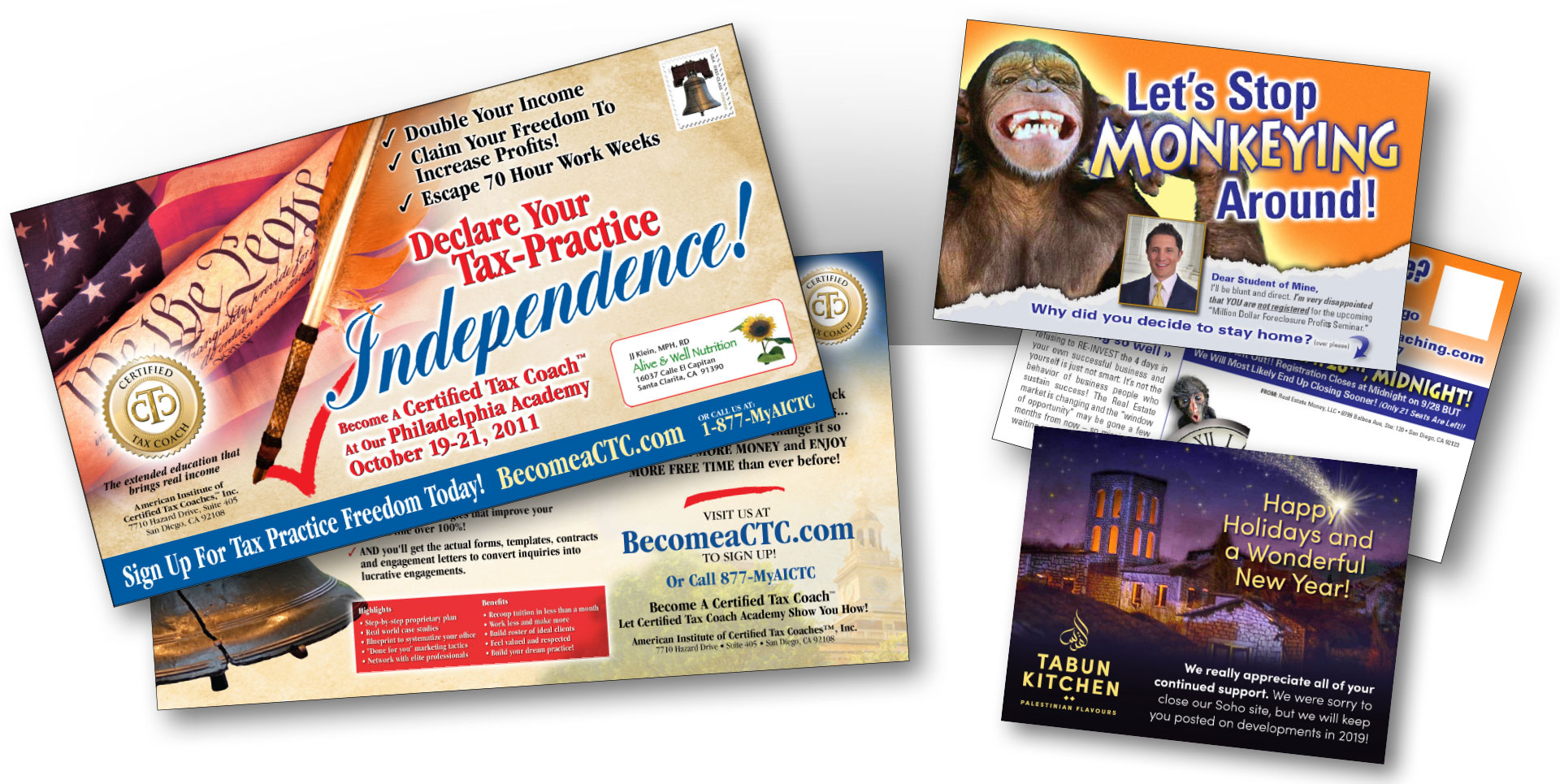 postcard design graphic alchemy