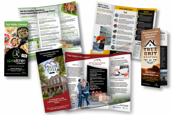eye-catching trifold brochure design and printing