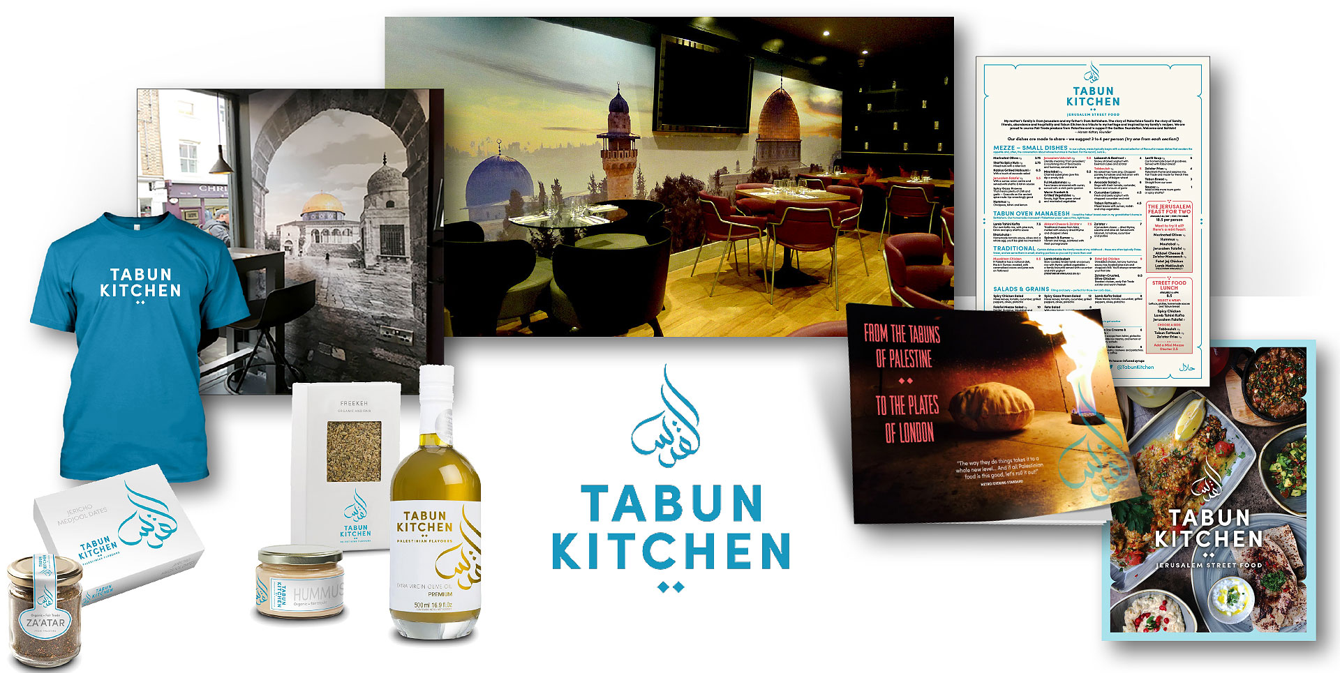 menu restaurant ads brand products wall art graphic alchemy